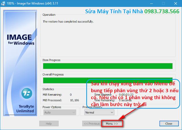 Cách bung file TBI chuẩn UEFI