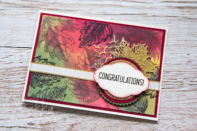 Vintage Autumn Leaves Congratulations Card - Get all the Stampin;' Up! UK Supplies you need to make this card here
