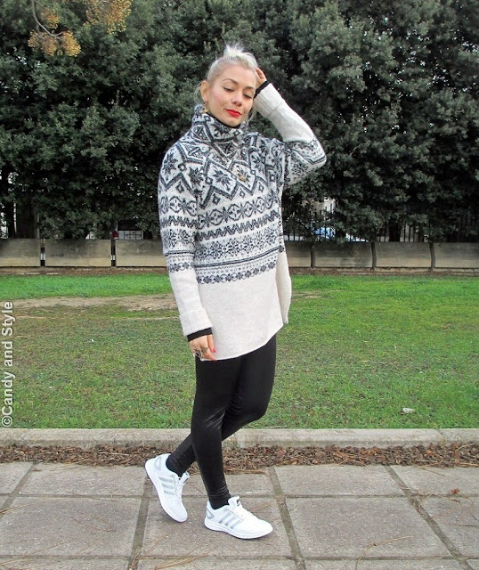 CosySweater+Leggings+WhiteTrainers - Lilli Candy and Style Fashion Blog