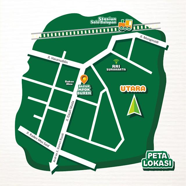 Peta Lokasi Outlet Dapur Mpok Duren Solo Balapan