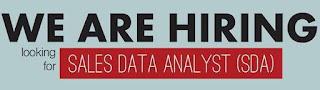 Lowongan Kerja Sales Data Analyst