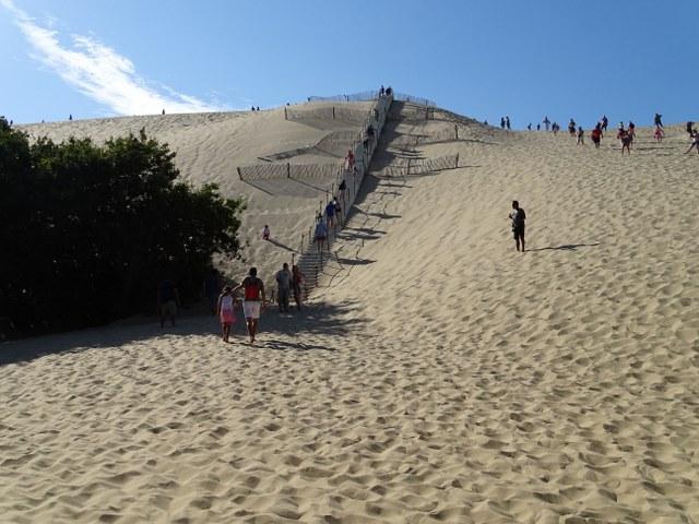 escalera duna pilat madera francia france