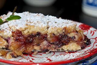 Tarta de Manzana y Mermelada de Saúco con Crumble