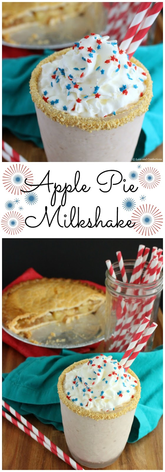 Apple Pie Milkshakes by LoveandConfections.com