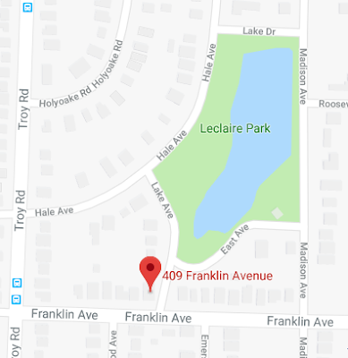location map of Leclaire Lake Park in Edwardsville, Illinois