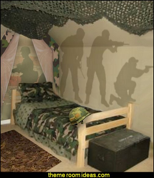 Decorating theme bedrooms maries manor army theme for Camouflage bedroom ideas for kids