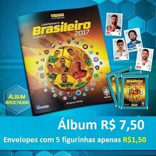 Álbum de figurinhas do Campeonato de Futebol Brasileiro de 2017 na Banca do Vanildo