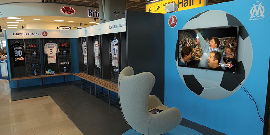 El aeropuerto de Marsella se convierte en vestuarios del OM
