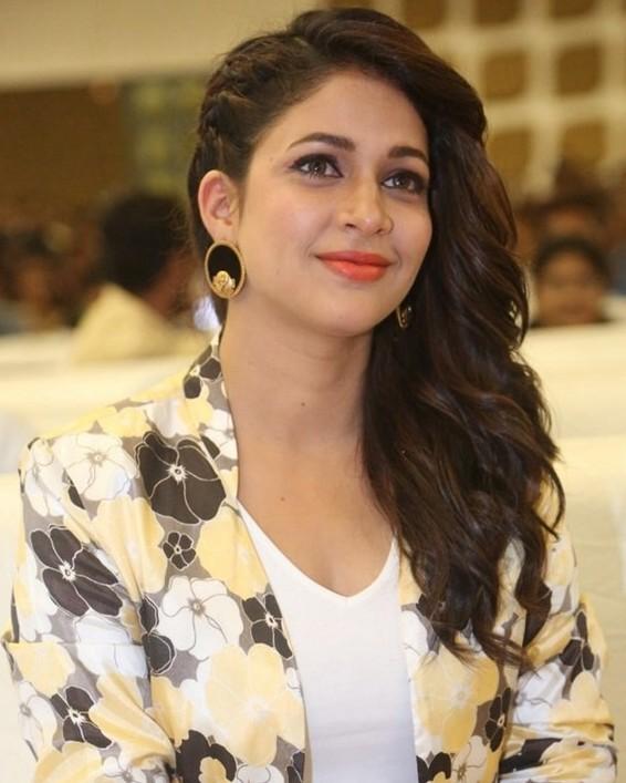 Lavanya Tripathi Stylish Gold Earrings
