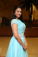 Pujita Ponnada in transparent sky blue dress at Darshakudu pre release ~  Exclusive Celebrities Galleries 007.JPG