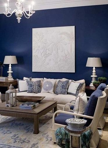 Salas en color azul   ideas de salas con estilo