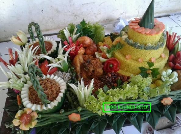 10 Gambar Kreasi Menghias Tumpeng Nasi Kuning Terbaru 2017