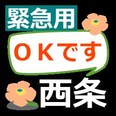 Emergency use.[saijo]name Sticker