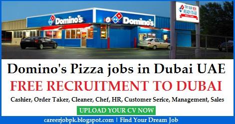 Dominos Pizza jobs in Dubai UAE