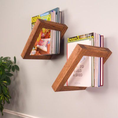 unique and creative square wall shelf ideas