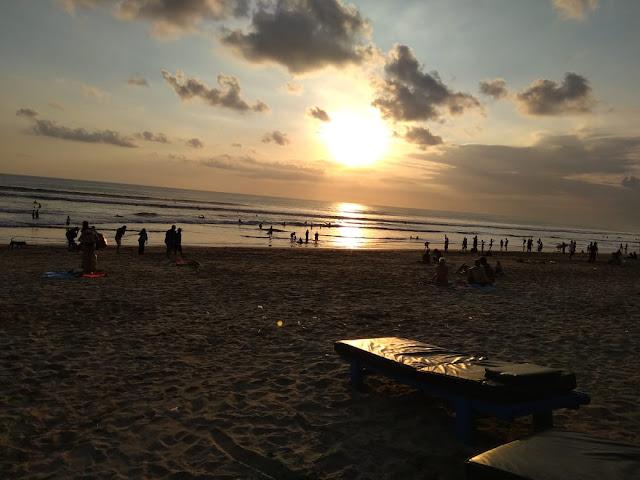 Cloudy Sunset in Kuta Beach