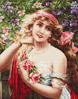 """Luca-S B549 """"Young Lady with Roses"""""""