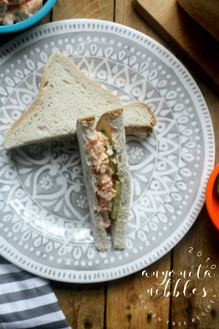 Easy shrimp and mayonnaise sandwich recipe