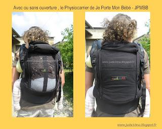 test Physiocarrier poche JPMBB dos maille filet chaleur été dossier