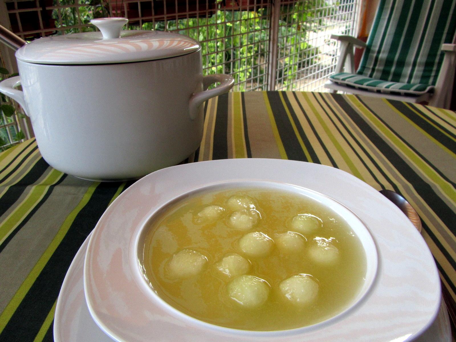 cocina con luz verde: Sopa fría de melón (entrante o postre)