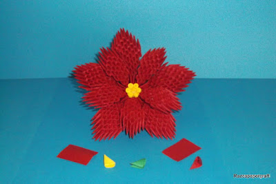 3D Origami flower made from paper