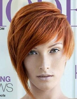 Model rambut pendek lurus untuk wajah diamond