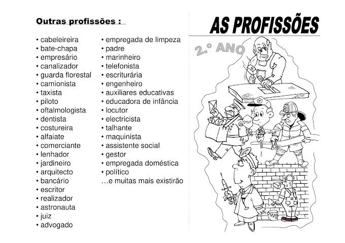 ATIVIDADES PARA O DIA DO TRABALHO LIVRO DAS PROFISSÕES.