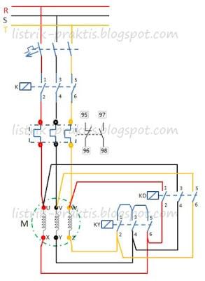 Rangkaian star delta dengan switch manual auto pada motor 3 fasa diagram daya pengasutan motor star delta cheapraybanclubmaster Choice Image