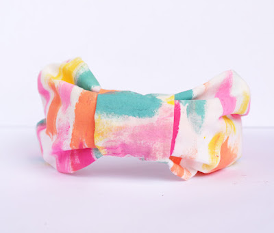 diy, diy crafts, diy craft ideas, headband, diy headband, turban headband, watercolor, diy watercolor