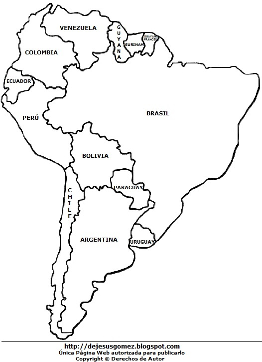DIBUJOS FOTOS ACROSTICO Y MAS DIBUJOS DEL MAPA DE AMERICA DEL SUR