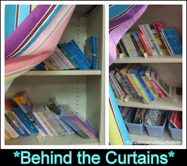 Curtains in Classroom (Organizational RoundUP via RainbowsWithinReach)