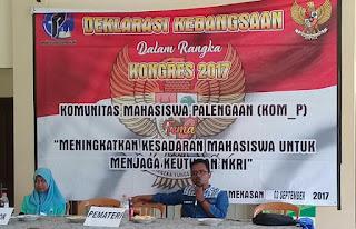 Mahasiswa Palengaan Gelar Deklarasi Kebangsaan dan Seminar