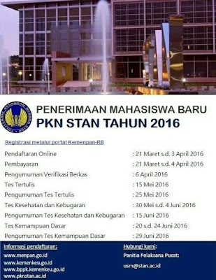 Info Pendaftaran PKN STAN 2016