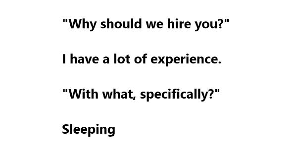 best jokes for an interview