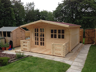 Lowered Liverpool Log Cabin