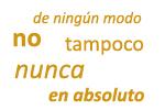 Adverbios y expresiones adverbiales de negación