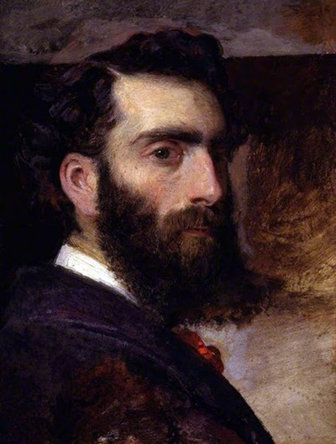 Philip Hermogenes Calderon,  Self Portrait, Portraits of Painters, Fine arts, Philip Hermogenes, Portraits of painters blog, Paintings of Philip Hermogenes, Painter Philip Hermogenes