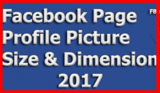 facebook page profile picture size