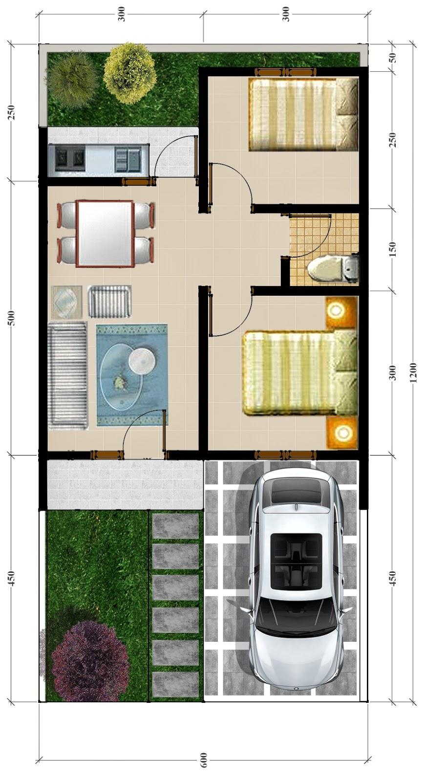 Desain Perumahan Type 40 Milik Pak Aditya Makassar Jasa Desain Rumah