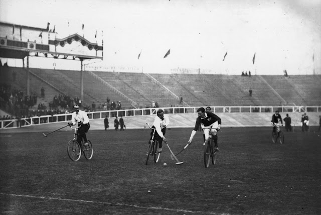 Olympic Bicycle Polo, one of several demonstration sports. Shepherd's Bush Stadium, 1908 London Olympics. Your Russians are missing and other stories about past Olympics. marchmatron.com