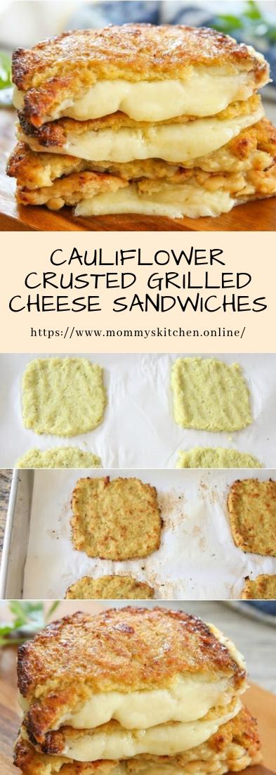 CAULIFLOWER CRUSTED GRILLED CHEESE SANDWICHES #vegan #sandwiches