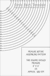 Patrón para hacer un volante circular