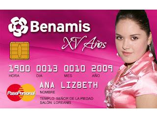 Tarjeta de Invitación Novedosa para tus 15 Años tipo Tarjeta de Crédito