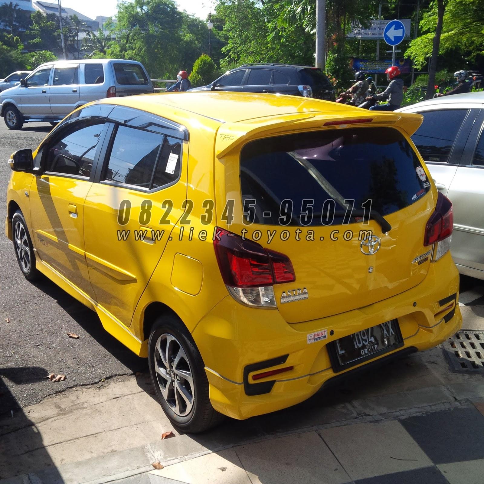 Harga Toyota Agya G TRD Kuning Liek Toyota