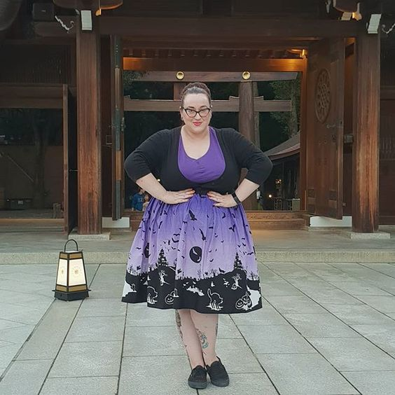Hell Bunny Haunt Skirt