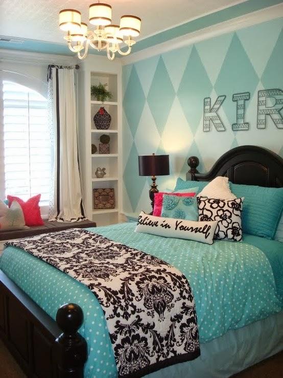 Dormitorios para adolescentes color turquesa  Ideas para
