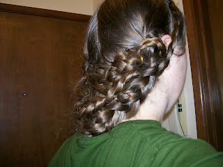 """1860 Godey's """"Coiffure for a Young Lady"""""""