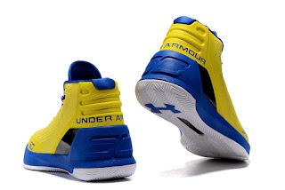 Under Armour Curry 3 Yellow  Premium, toko sepatu basket , jual sepatu basket, harga basket under armour, under armour curry , curry 3