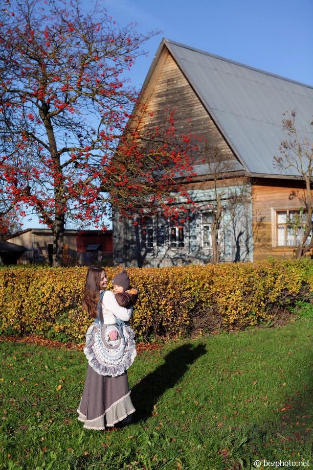 красивая осень в деревне