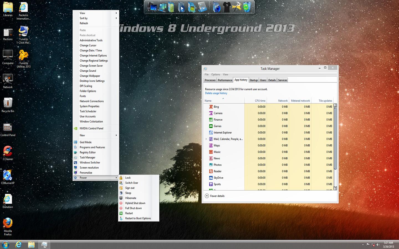 Download Windows 8 Underground Edition 2013 64-Bit Build 9200 (By